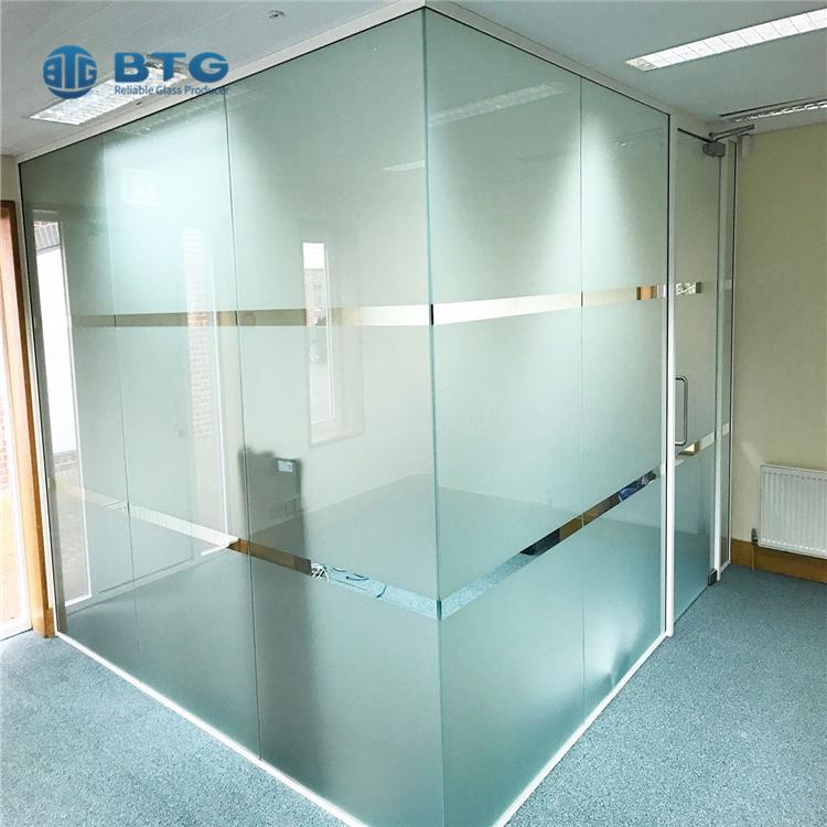 6.38mm-40.28mm acid ectching SGP laminated glass
