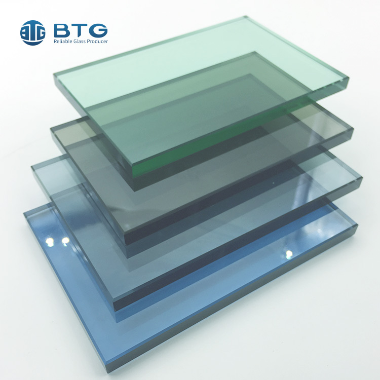 3mm-19mm tinted tempered glass
