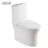 Hot wholesale elongated white porcelain siphonic one piece toilet wc for South America