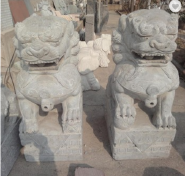 chinese style stone lion carving