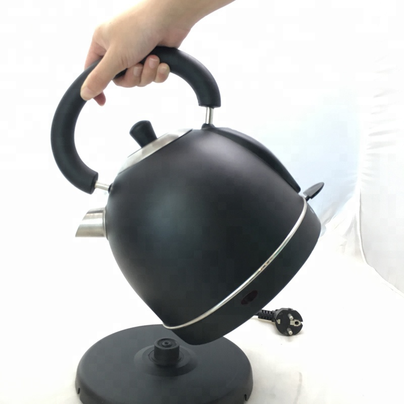 Stainless steel electric kettle with black coating big size boiling pot with Water Level Gauge