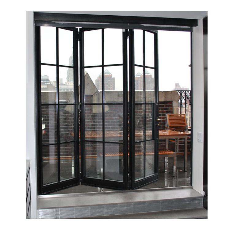 high end folding aluminium washroom sliding doors