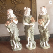 Good hand carved white marble statue