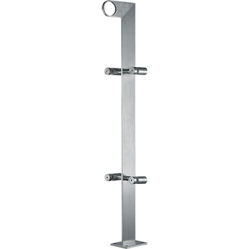 Stainless steel outdoor or indoor used glass railings post, stair handrail fitting