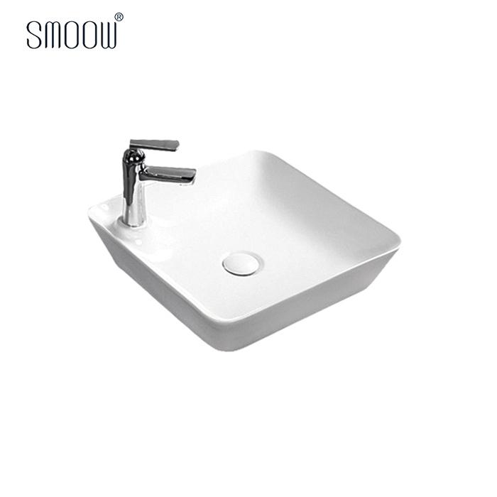 High end design China sanitary ware square ceramic wash hand art basin