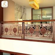 304 steel metal hotel inn lobby staircase balustrade railings curved fancy stairway handrail stair stainless steel balusters