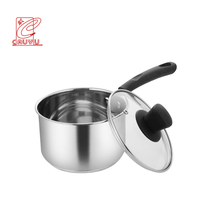 Korea Style 16CM/18CM Stainless Steel Saucepan Milk Boiling Pot With Single Bakelite Handle