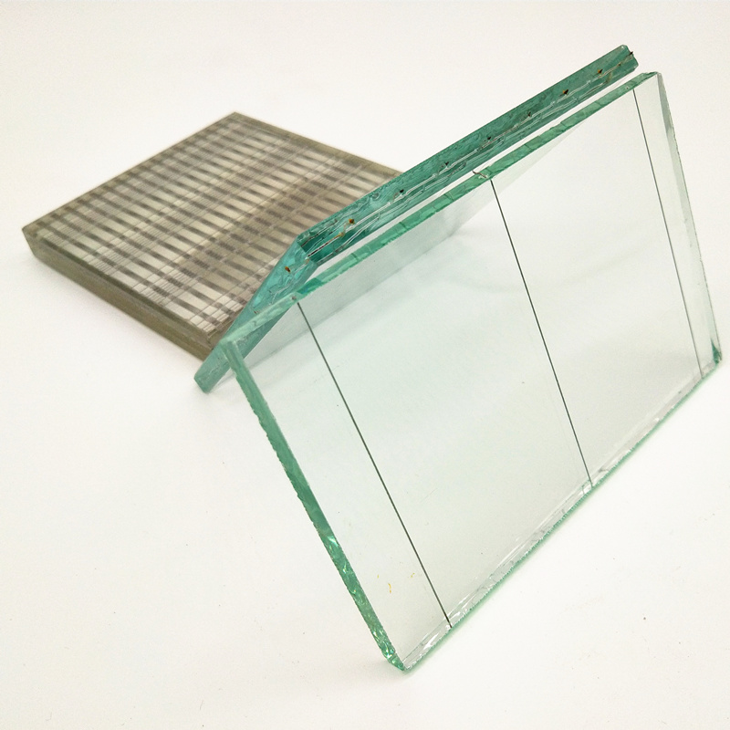 6mm Clear Silk Spun Wired Mesh Reinforced Security Laminated Wire Glass For Skylight And Windows