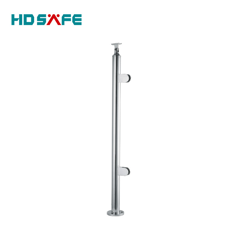 Stainless steel railing handrail/stair glass balusters/stainless steel glass balcony pillar in foshan