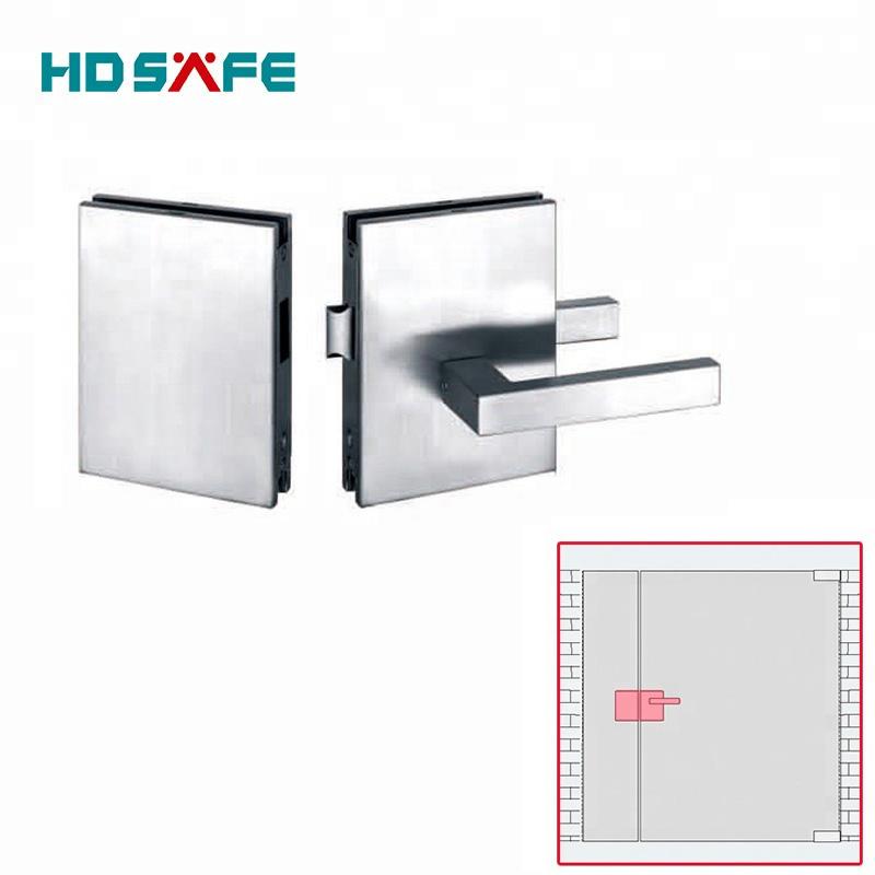 Stainless steel security glass door locks