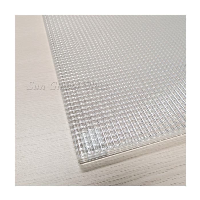 China high quality spotlight cross reeded interior decorative low iron ultra clear toughened laminated glass panel factory price