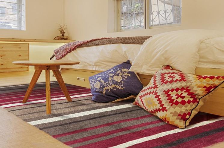 Red Stripe Carpet Home Commercial Rug Colorful Carpet Squares