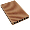 Outdoor High Quality Round Hollow hole 25mm synthetic teak decking outdoor decking wood plastic composite floor