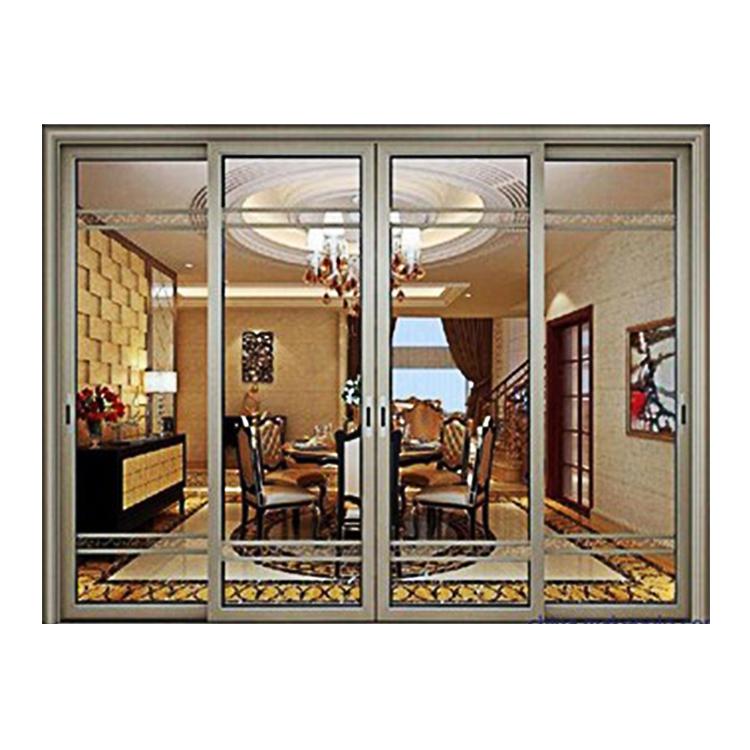 Thermal break double glass aluminium sliding patio windows and doors