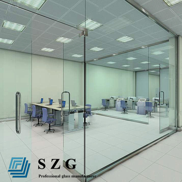 CE quality 10mm 12mm thickness clear safety toughen tempered glass partition wall