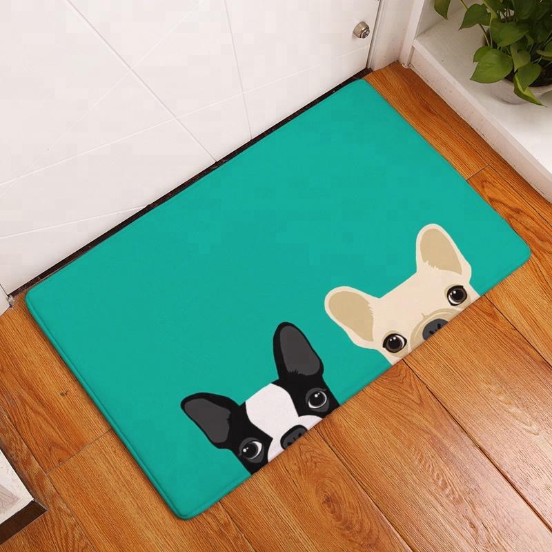 D Printed Dogs Indoor Entrance Door Floor Mat for Kitchen Room