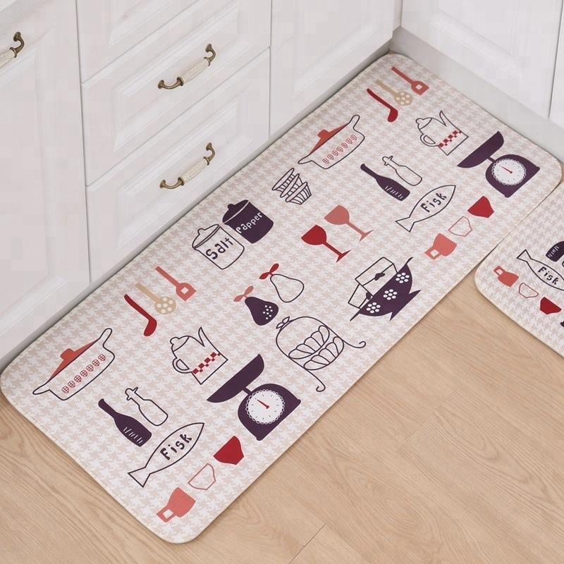 Wholesale Beautiful Printed Floor Mat Anti-fatigue Kitchen Mat Anti-slip Bathroom Mat