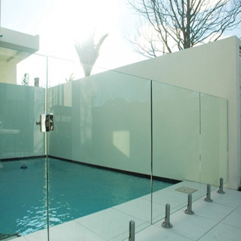 Tempered Frosted Tinted Aluminum Lowes Panel Frameless Glass Deck Railing