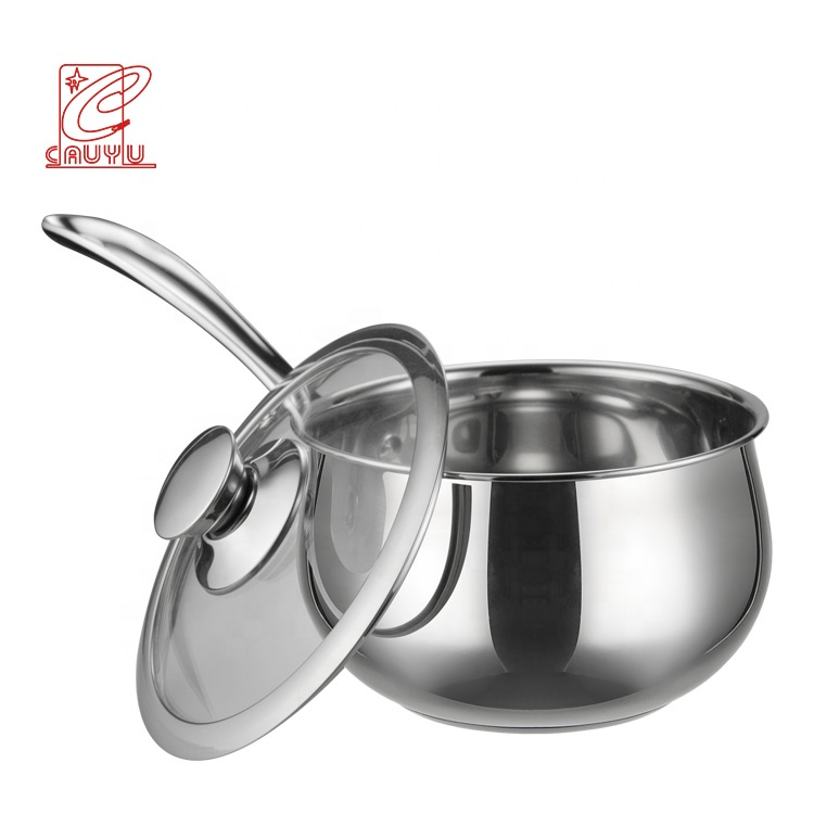 SS304 Visualization of Elegant Saucepan cookware Food Contact Safe pot