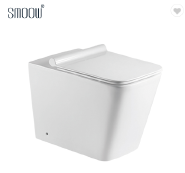 Excellent quality P-trap washdown floor mounted ceramic back to wall toilet for modern bathroom