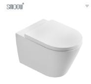 Fashion ceramic cheap sanitary ware washdown wall hung toilet commode for hotel bathroom equipment
