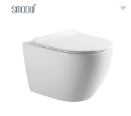 European sanitary ware round porcelain wall hung toilet for home bathroom design decoration