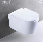 Popular design white ceramic wall hung toilet sanitary ware commode
