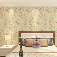 small flower wallpaper with silk touch and comfortable gloss/