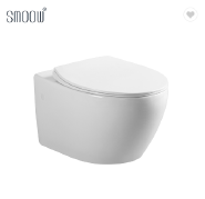 Modern style round rimless wall hang toilet ceramic WC commode for hotel home bathroom