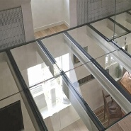 Decorative Clear Toughened Laminated Glass Floor