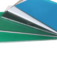 2100 mm width green 5mm polycarbonate roof panels