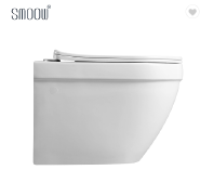 Japanese european white ceramic one piece wall hung toilet for hidden tank