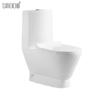 Factory direct selling sanitary ware washdown one-piece white round toilet commode for Africa