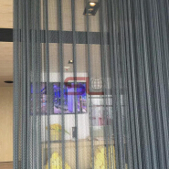 Aluminum Wire Shower Curtain Metal Mesh Fabric Decorative Screen Mesh