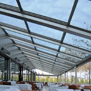 Clear Flat tempered laminated glass roof panels