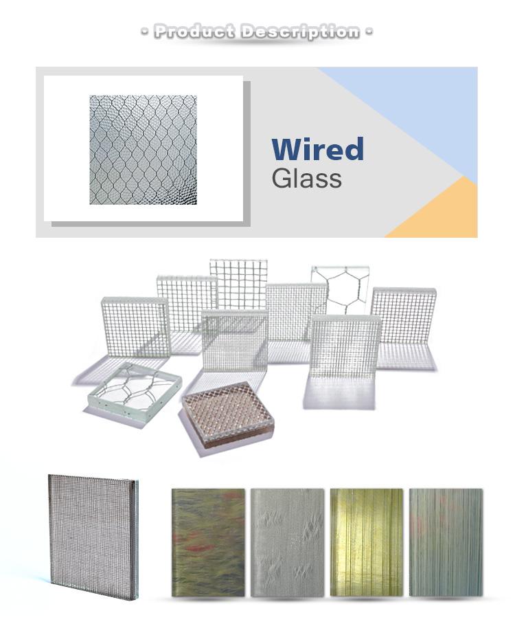 figured wired glass