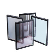 low e tempered double glazing glass for building with ce iso factory supply