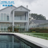 10mm 12mm Clear Tempered Glass Pool Fence Panels