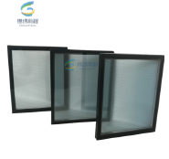 6mm +12Air space+6mm clear tempered dgu insulated glass for facade and window