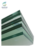 8.8.3clear glass polished edge and tempered laminated glass