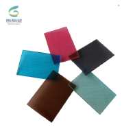 8mm heat strengthened colored pvb laminated glass