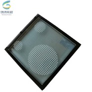 Decorative high quality ceramic frit coating low e glass insulated glass with sound proof function