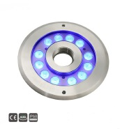 12x3w IP68 stainless dmx round led fountain light