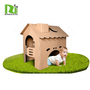 POS Fascinating Cardboard Craft House for Children playhouse