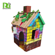 Corrugated Cardboard Handmade Kids Foldable Paper Playhouse