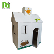 cardboard toys corrugated paintable cardboard play house