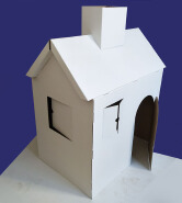 child toys play cardboard house paperboard play house