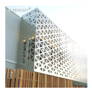 Decorative exterior perforated aluminium curtain wall facade panel plate panel