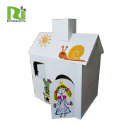customize paper furniture corrugated kids toy cardboard play house
