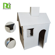 Eco-friendly cardboard furniture and safe material paper cardboard playhouse